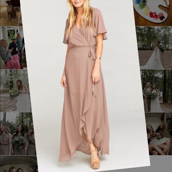 aa9c2da5b7f0 Show Me Your MuMu Dresses | Sophia Wrap Dress Dune | Poshmark